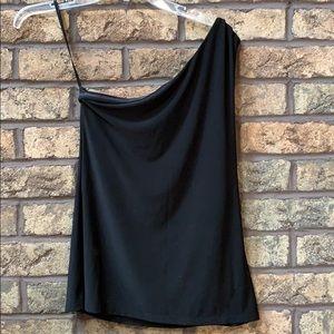 White House black market black one shoulder top